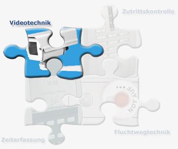Zeiterfassung,  Zugangskontrolle, Systemtechnik, Fluchtwegtechnik, Videotechnik